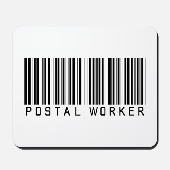 Postal Worker Barcode Mousepad
