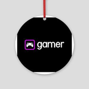Gamer (Purple) Round Ornament
