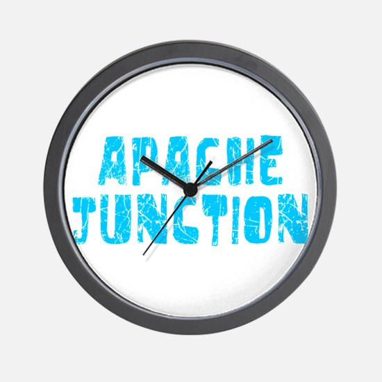 Apache Junct.. Faded (Blue) Wall Clock