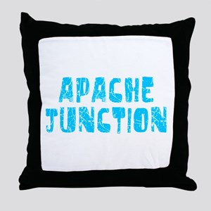 Apache Junct.. Faded (Blue) Throw Pillow
