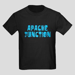 Apache Junct.. Faded (Blue) Kids Dark T-Shirt