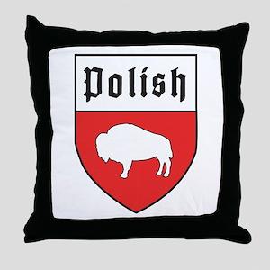 Buffalo Polish Crest Throw Pillow
