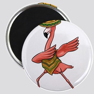Cinco De Mayo - Dabbing Dab Flamingo Ponch Magnets