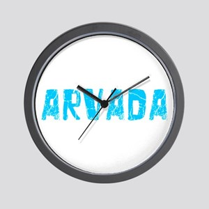 Arvada Faded (Blue) Wall Clock