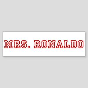 Mrs. Ronaldo Bumper Sticker