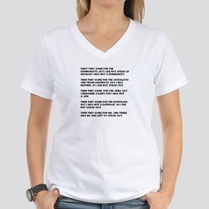 apathy on rights Women's V-Neck T-Shirt
