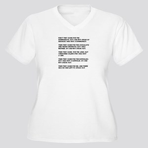 apathy on rights Women's Plus Size V-Neck T-Shirt
