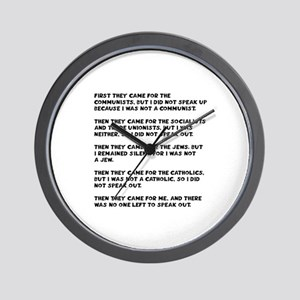 apathy on rights Wall Clock