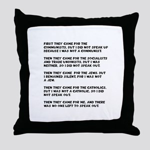 apathy on rights Throw Pillow