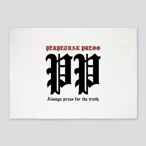 Perpetual Press Logo 5'x7'Area Rug