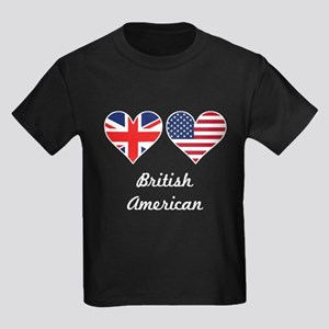 British American Flag Hearts T-Shirt