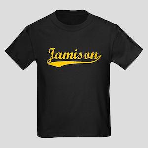 Vintage Jamison (Orange) Kids Dark T-Shirt