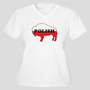 Buffalo Polish Women's Plus Size V-Neck T-Shirt