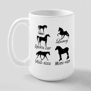 Horse Cars Large Mug