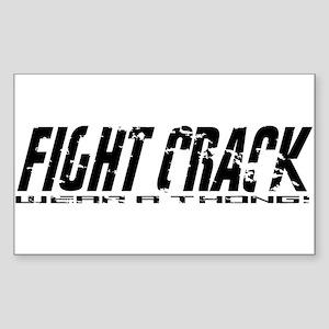 Fight Crack Rectangle Sticker