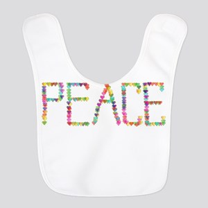 Rainbow Peace Stars Polyester Baby Bib
