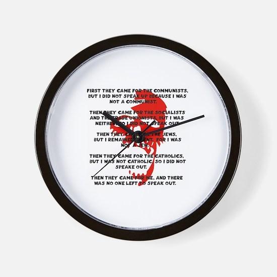 human rights apathy Wall Clock
