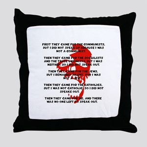 human rights apathy Throw Pillow