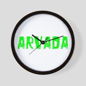 Arvada Faded (Green) Wall Clock