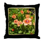 Scarlet Pimpernel Throw Pillow