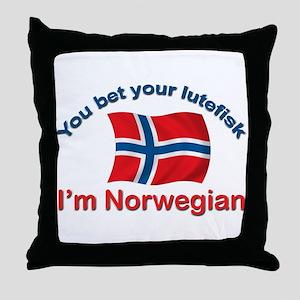 Norwegian Lutefisk Throw Pillow