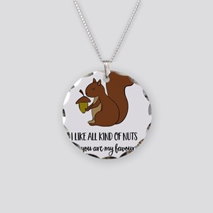 Squirrel Necklace Circle Charm