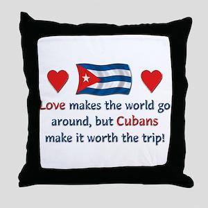 Love Cubans Throw Pillow