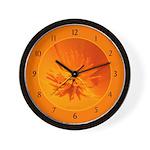 California Poppy Wall Clock