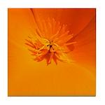 California Poppy Tile Coaster