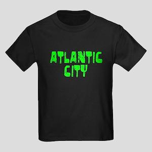 Atlantic City Faded (Green) Kids Dark T-Shirt