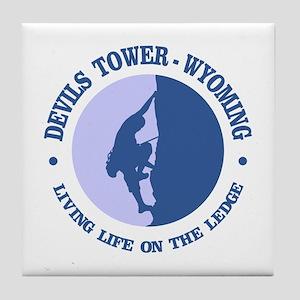 Devils Tower (logo) Tile Coaster