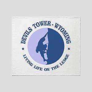Devils Tower (logo) Throw Blanket