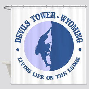 Devils Tower (logo) Shower Curtain