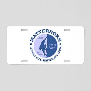 Matterhorn Aluminum License Plate