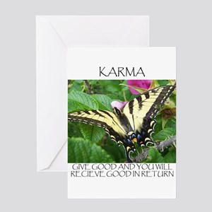 Butterfly Karma Greeting Card