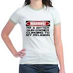 Warning Jr. Ringer T-Shirt
