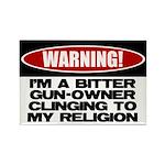 Warning Rectangle Magnet (100 pack)