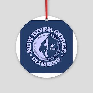 New River Gorge Round Ornament