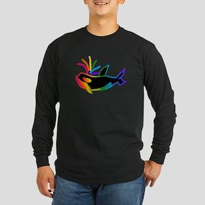 Rainbow Orca Long Sleeve T-Shirt