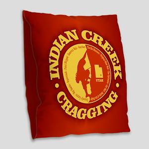 Indian Creek Burlap Throw Pillow