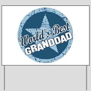 Worlds Best Granddad Yard Sign