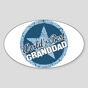 Worlds Best Granddad Oval Sticker