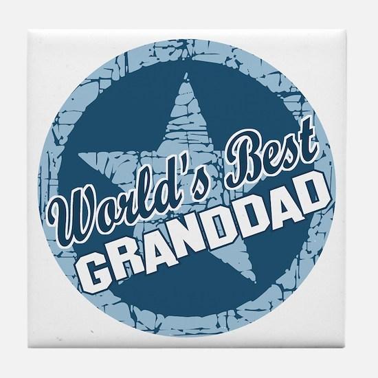 Worlds Best Granddad Tile Coaster