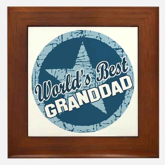 Worlds Best Granddad Framed Tile