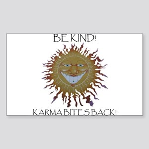 Karma Sun Face Rectangle Sticker