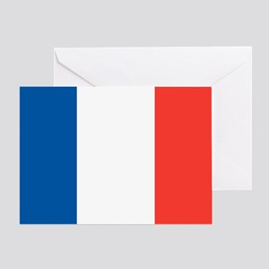 French Tricolour Flag of France Greeting Cards
