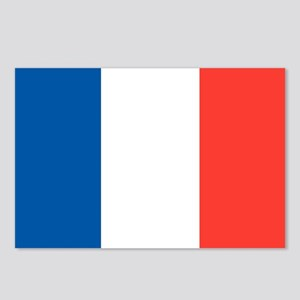 French Tricolour Flag of France Postcards (Package