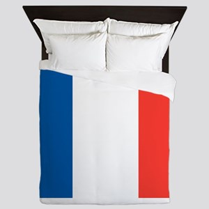 French Tricolour Flag of France Queen Duvet