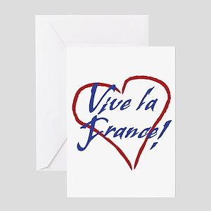 Vive la France! heart art Greeting Cards