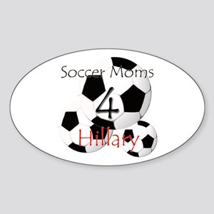 Soccer Moms 4 Hillary Oval Sticker